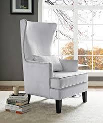 Modern Digs Furniture by Bristol Tall Chair Silver Croc Velvet Modern Digs Furniture