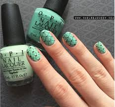 green and black nail art design
