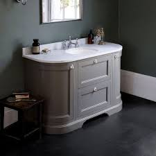 burlington 134 curved vanity unit with double doors uk bathrooms