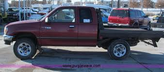 toyota t100 truck 1997 toyota t100 dx xtracab flatbed truck item e587