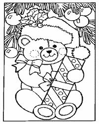 teddy bear christmas stocking cliparts