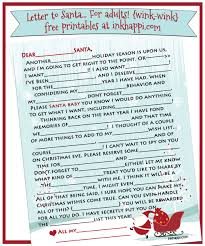 Printable Halloween Mad Libs by Santa Letter Wink Wink 2014 Version Is Here Inkhappi