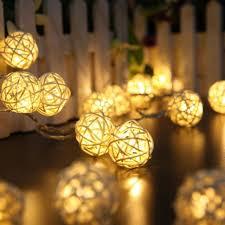 christmas garland battery operated led lights yimia 20pcs white rattan ball lights battery operated christmas