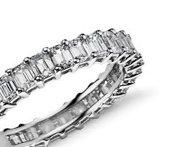 emerald bands rings images 2 ct tw emerald cut cubic zirconia eternity ring in 14k white jpg