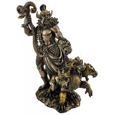 greek mythology statues hades greek god of the underworld with cerberus 3 headed dog statue