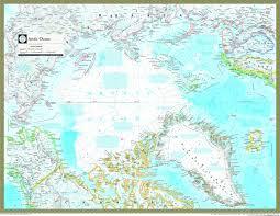 Map Of Oceans Arctic Ocean Political Atlas Wall Map Maps Com