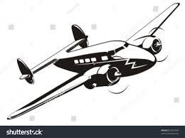 cartoon retro airplane more vector airplanes stock vector 38101048