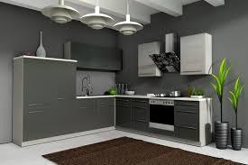 einbauk che billig küche 280x270 cm küchenzeile in grafit grau eiche