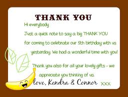 birthday thank you notes kandcturn5 5th birthday monkey party thank you notes