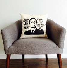 the office tv show michael scott feared or loved pillow home