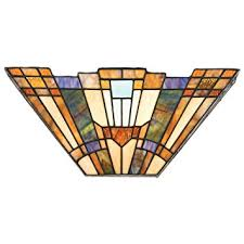 Stained Glass Wall Sconce Quoizel Tfik8802 Inglenook Glass Wall Sconce Lighting With Shades