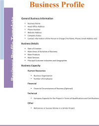 business profile template template free download speedy template