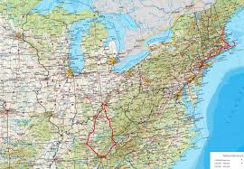 Eastern Usa Map by Drives Round The Eastern Usa