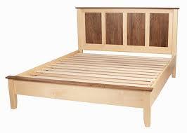 All Wood Bed Frame Wooden Bed Frames Shaker Solid Wood Platform Bed Frame
