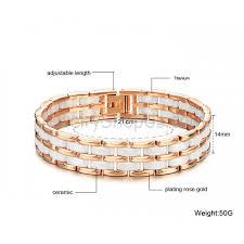 ceramic link bracelet images Ceramic and titanium mechanics link bracelet white rose gold jpg