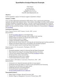 financial analysis sample report quantitative analyst resume sample resume samples across all brilliant ideas of quantitative analyst sample resume with quantitative analyst resume