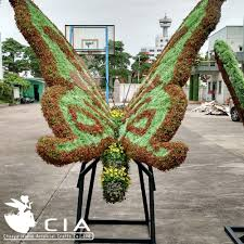 outdoor evergreen garden topiary butterfly plants statue for park