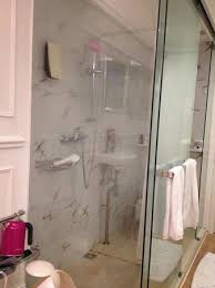 Shower Curtain See Through Bathroom With Only Shower Curtain Dividing The Shower And Toilet