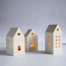 ceramic house tea light holder my apartment ideas