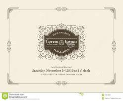 Wedding Invitation Card Templates Vintage Wedding Invitation Card Border And Frame Template Stock