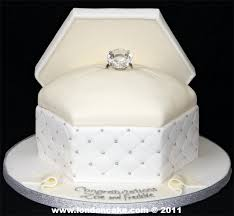 engagement cakes like this ring box engagement cake as the top layer of the yellow