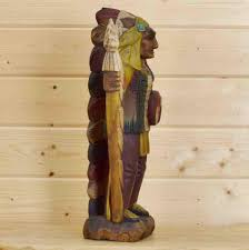 taxidermy home decor hand carved wooden indian chief southwest art sw1810 for sale