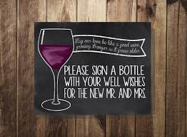 guest book wine bottle sign a bottle guest book guest book sign wine by thedoodlecoop
