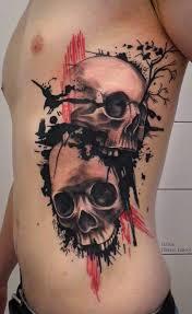 new tribal style skull tattoo design photo 1 2017 real photo