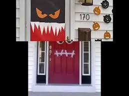 Door Decorations For Halloween Halloween Door Decorations Ideas Youtube