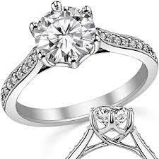 6 prong engagement ring brilliant 6 prong trellis moissanite engagement ring