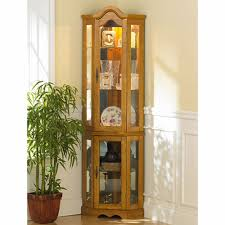 wayfair corner curio cabinet lighted corner curio cabinet oak cabinet ideas