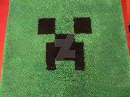 creeper face latch hook rug by sonicdragon26 on deviantart