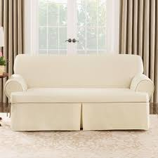 Sofa Slipcover 3 Cushion Furniture Perfect For Unexpected Guests With Ottoman Slipcovers