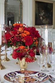 Thanksgiving Table Centerpieces by Decorations Clear Glass Vase With Candle Light Inside