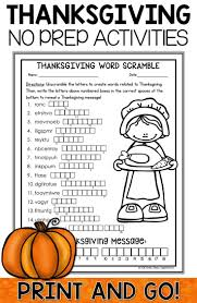 thanksgiving activities crafts and word search word search