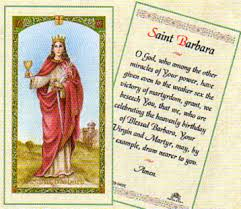prayer cards barbara laminated prayer card
