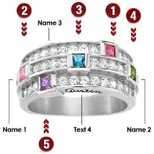 mothers rings pictures images Bella mother 39 s ring with 5 genuine birthstones in 14kt white gold jpg