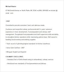 chef resume templates chef resume template free templates 14 sles exles psd format