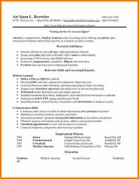 Resume Examples Medical Assistant by 8 Certified Medical Assistant Resume Resume Reference