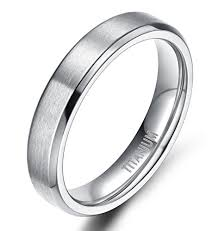 wedding band ring 4mm 6mm 8mm unisex titanium wedding band rings in comfort fit