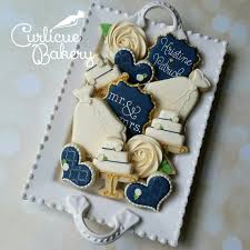 bridal luncheon favors navy and ivory wedding shower bridal luncheon decorated sugar