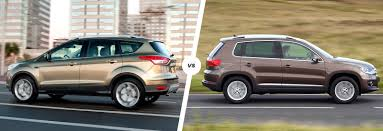 suv ford ford kuga vs vw tiguan crossovers compared carwow