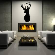 deer head mount wall decal deer silhouette dining living