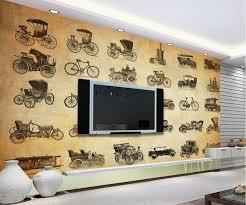 transport canapé personnalisé papel de parede rétro vintage voiture monde transport