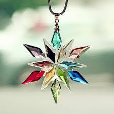 hanging car charm ornaments rhinestone bling snowflake mirror
