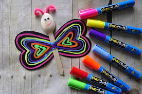 spoon butterfly kid craft with fun chalk i heart crafty things