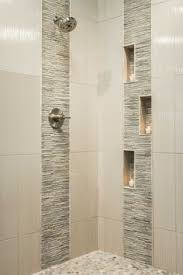 bathroom tiling designs niche with glass and horizontal blends surrounded by large