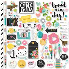 wedding scrapbook stickers simple stories carpe diem fundamentals stickers