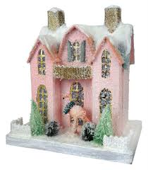 Images Of Christmas Decorated Houses Vintage Christmas Village Houses Traditions