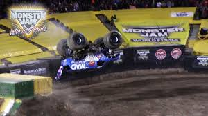 monster truck freestyle videos monster truck lands first ever front flip watch the amazing video
